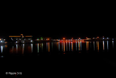 Posted by Ripple (VJ) : Pushkar Night View: Bridge on Pushkar Lake...