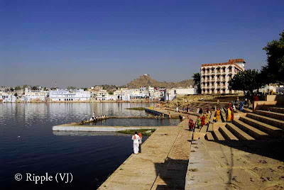 Posted by Ripple(VJ) : Glimpses of Pushkar-Ghats around Puhkar-Lake during Camel Fair-2008 (Pushkar Lake is actually surrounded by different Ghats/Temples... ):: A view of Jaipur-Ghat... I found this ghat the best to spend some time...
