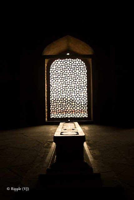 Posted by Ripple (VJ) :  Humayun's Tomb, Delhi : The actual tomb of Humayun - the second Mughal emperor. The actual tomb of Humayun - the second Mughal emperor.Side view of Humayun's TombEntry for main Tomb...Series of pillars @ Humayun's Tomb, DelhiHumayun's Tomb is very well maintained...Light passing through a window @ Humayun's Tomb, DelhiBeautiful light pattern created by jaali in window @ Humayun's Tomb, DelhiLight pattern created by window light in a pillar @ Humayun's Tomb, DelhiLight pattern inside water body in front of Humayun's Tomb, Delhi