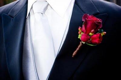 flor da lapela do noivo