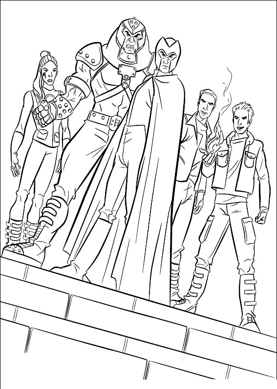 Scott summers mutant leader, freedom fighter. Kids Under 7 X Men Coloring Pages