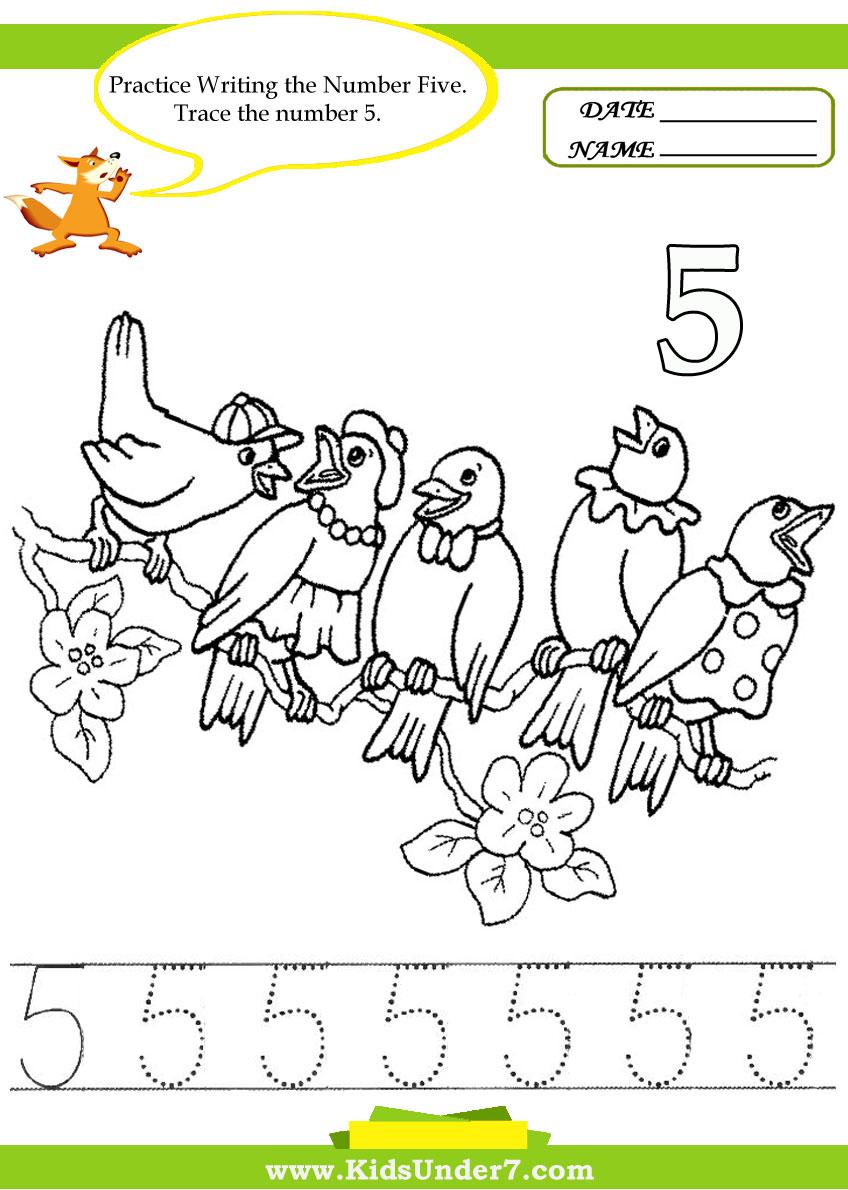 Workbooks number one worksheets : Kids Under 7: Number Tracing -1-10 – Worksheet. Part 2