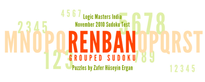 Logic Masters India's Renban Grouped Sudoku Test