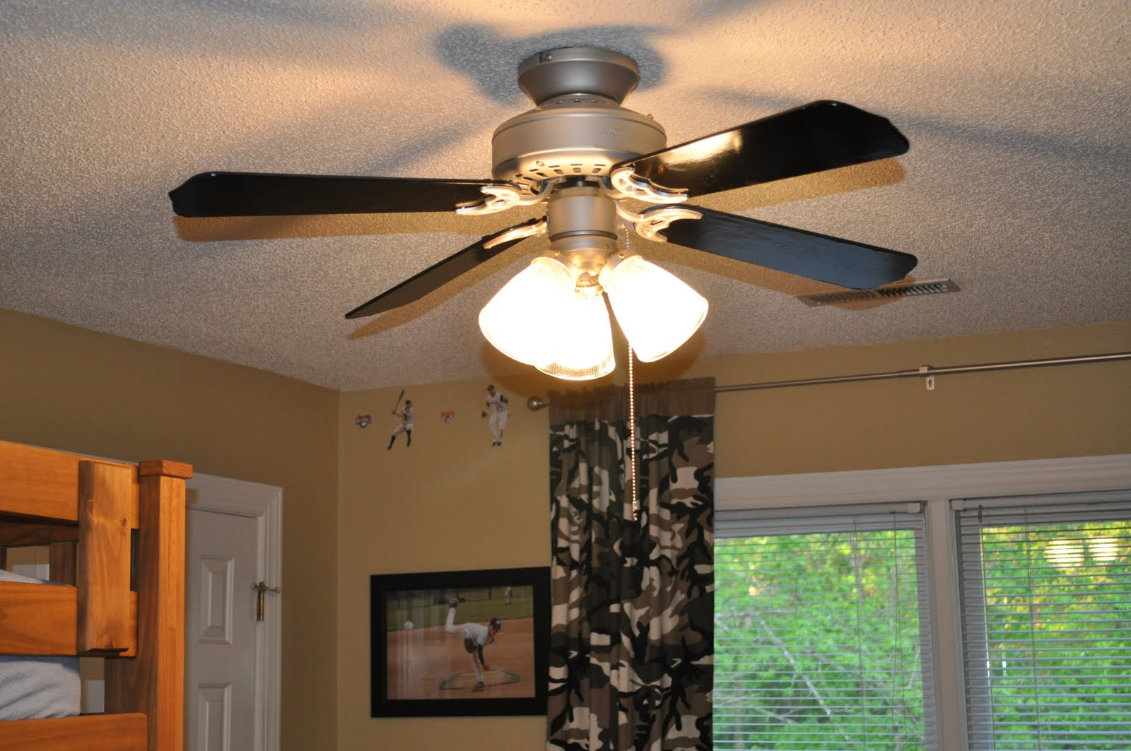 Black And Gold Ceiling Fan The Collected Interior A Ceiling Fan Revamp