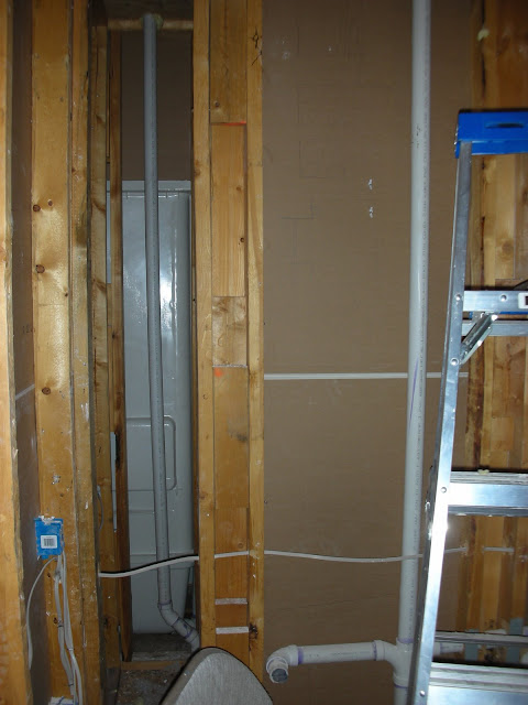 Extra square footage between walls