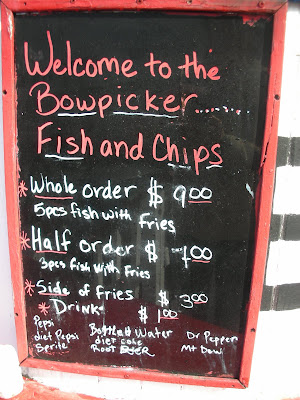 Bowpicker Astoria menu