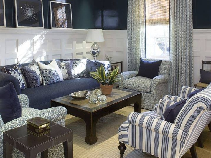 Decorating With A Navy Gray And White Colour Scheme