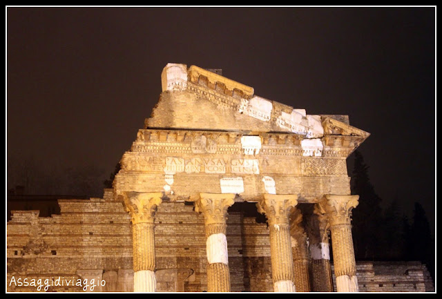 Brescia-Rovine del tempio romano