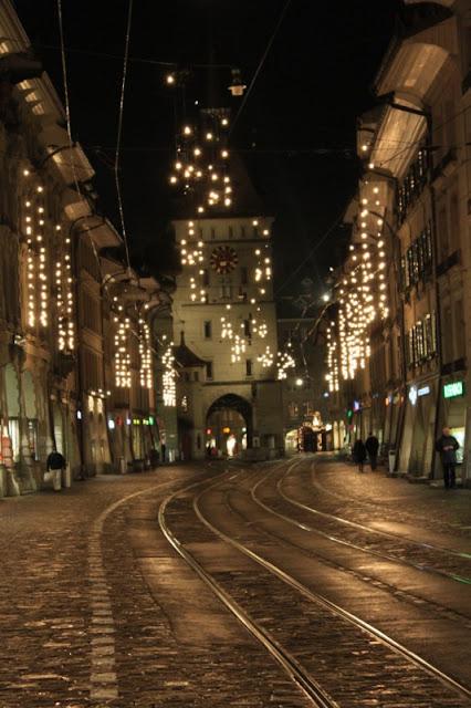 Luminarie natalizie a Berna