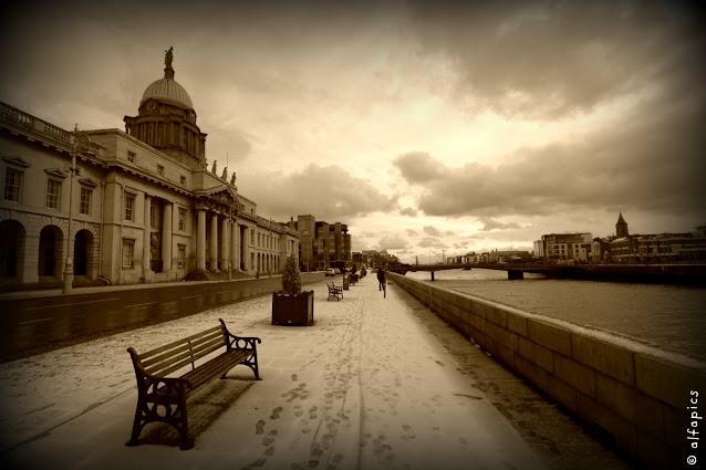 Dublino con la neve