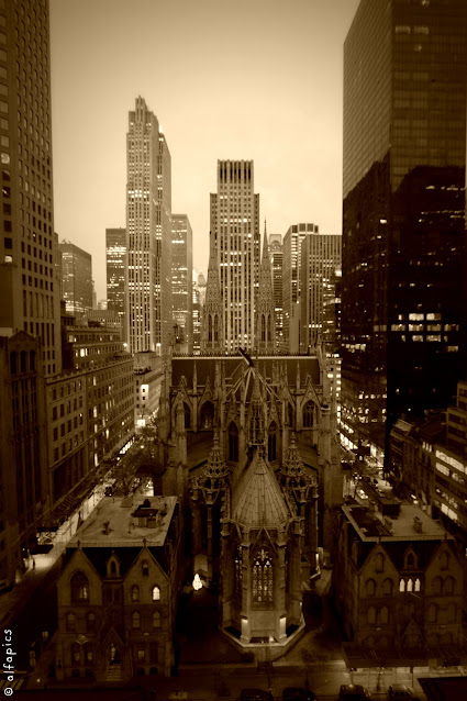 St. Patrick Cathedral dall'hotel New York palace-New York