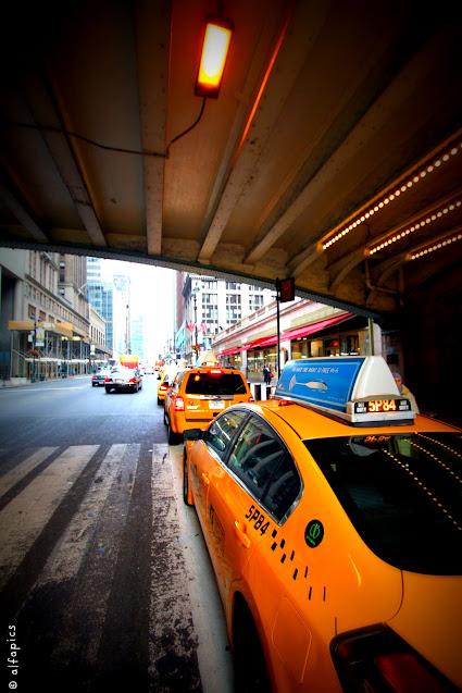 Taxi alla Grand central station-New York