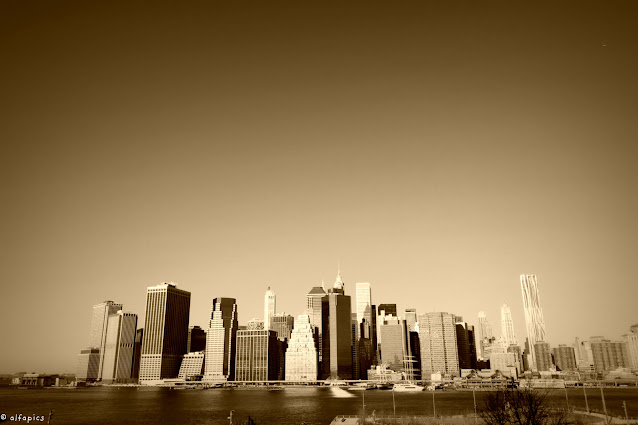 Brooklyn Heights-Panorama su Manhattan-New York