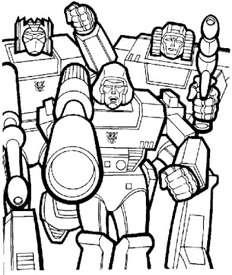 transformer coloring book pages | Transformers Characters: Pictures Pages to Print - Free ...