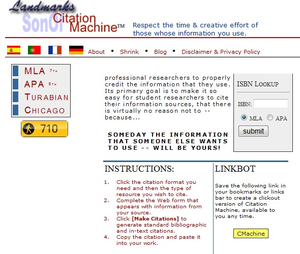 Mla Quote Citation: Citation Machine Mla Format