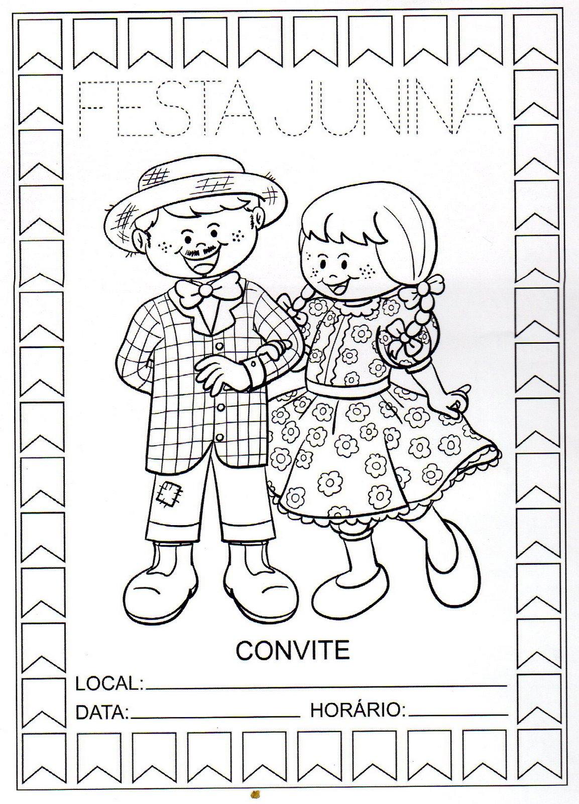 Desenhos De Festa Junina Para Colorir Atividades Para Colorir