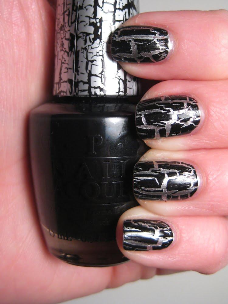 shatter polishes polish or perish opi black shatter