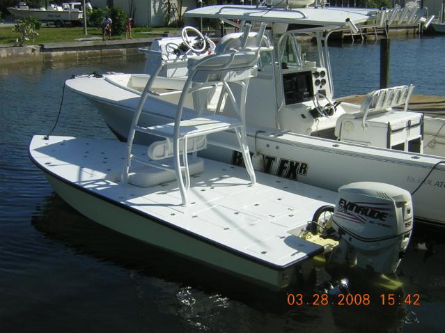 The Pine Island Angler Beautiful Custom 18 Flats Boat