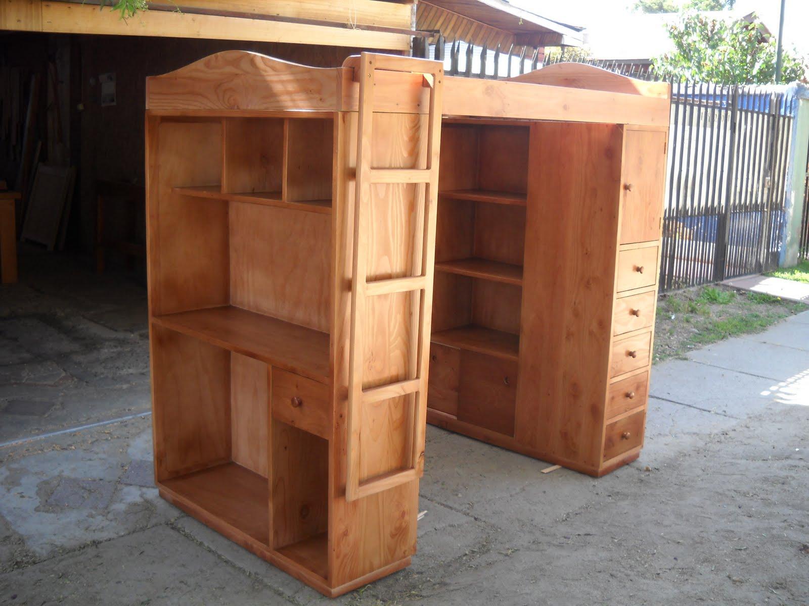 Muebles kotue cama alta con muebles for Muebles espacios pequenos