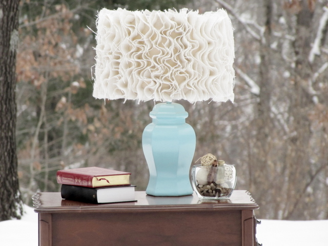 Anthropologie Ruffled Lampshade