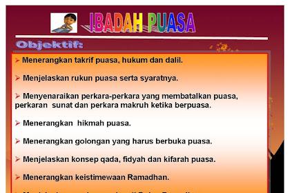 Objektif Tajuk Ibadah Puasa