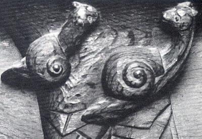 caracóis enamorados- cadeiral de igreja de Gassicourt, Mantes-la-Jolie,séc XVI