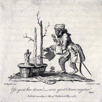 Reverso do catálogo das pinturas exibidas em Spring Gardens, Gravura, 1761
