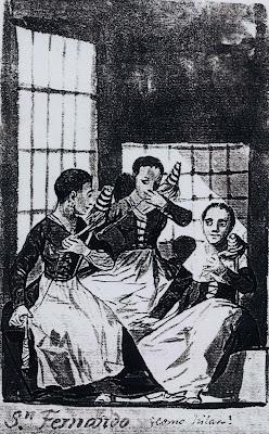 Goya, Album B, fiadeiras no reformatório