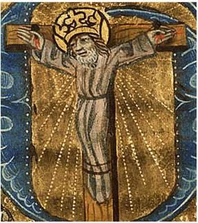 : Wilgeforte na cruz, Livro de Horas, c.1470, Utrech