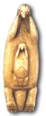 Figurine of kalan. Ivory. Aleuts. XIX cent