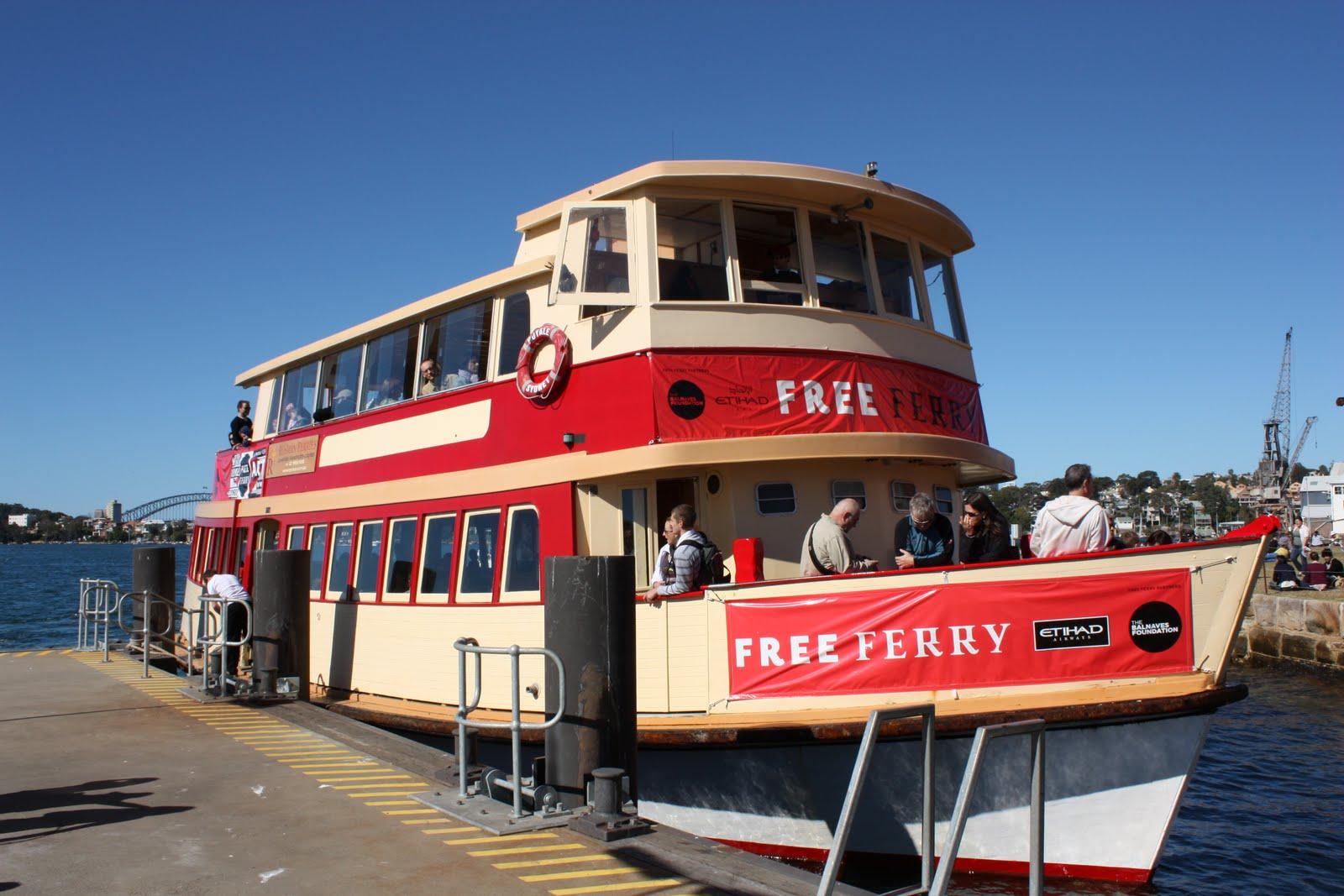 Ferry To Cockatoo Island Biennale