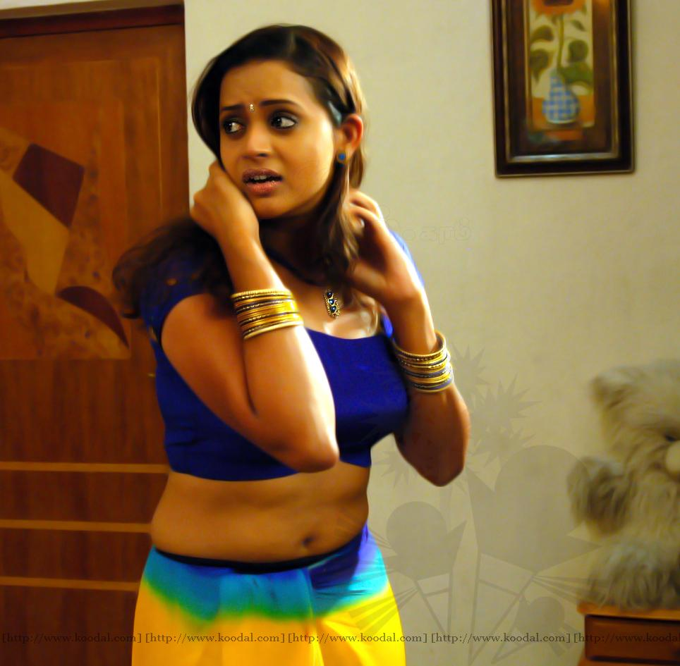 Film Actress Photos: Bhavana Navel And Boob Show In Blouse