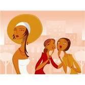 Animasi Wanita dengan wajah cantik membuat iri orang lain