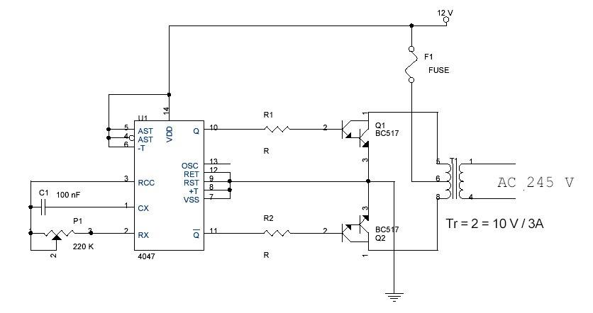 Circuitthe Circuit Dc To Ac Converterdc To Ac Converter12v Dc