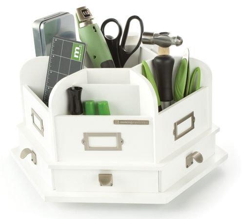 making memories wood desktop organizer- white | Quick ...