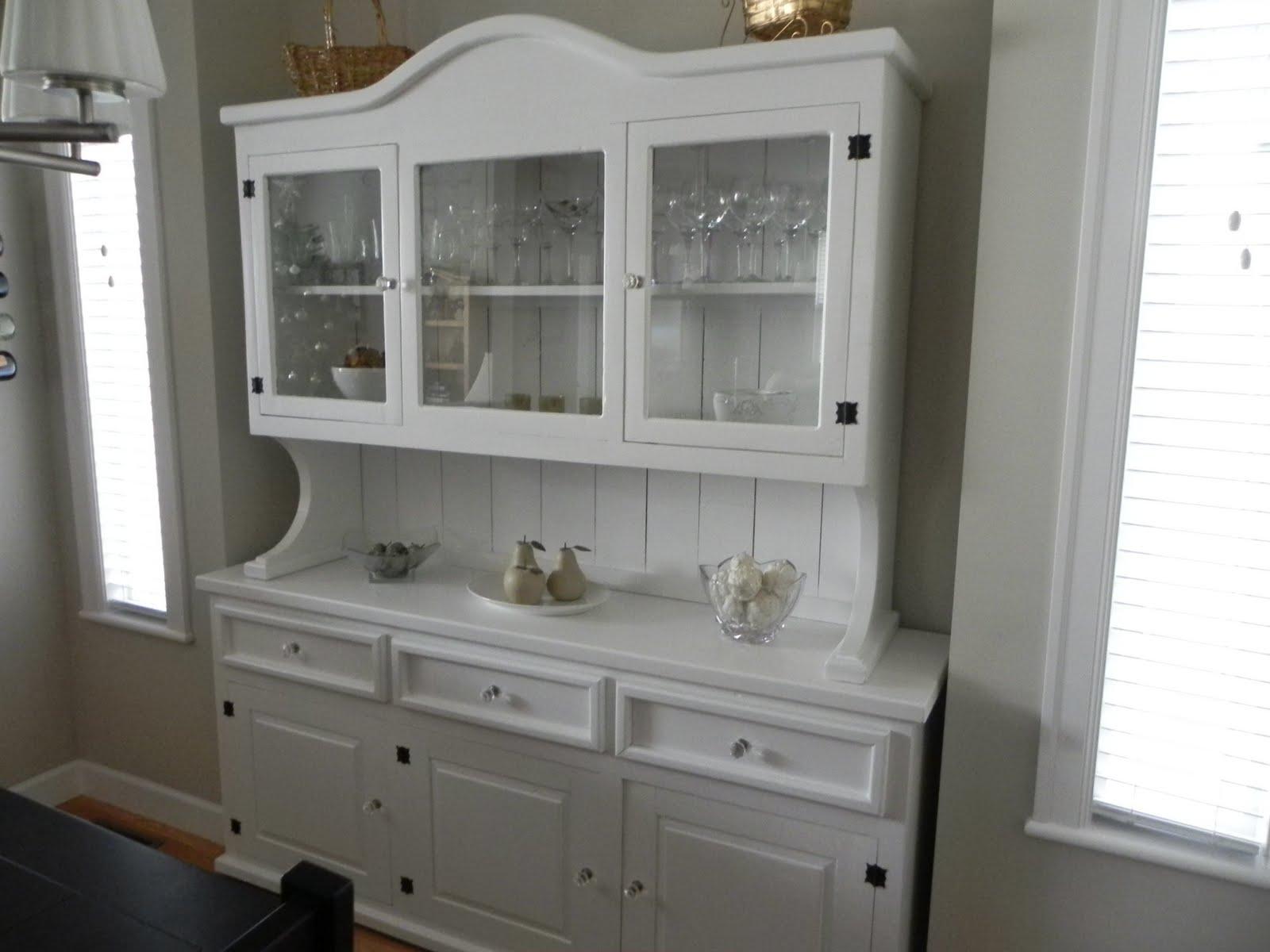 adrienne-marie designs: White Buffet and Hutch