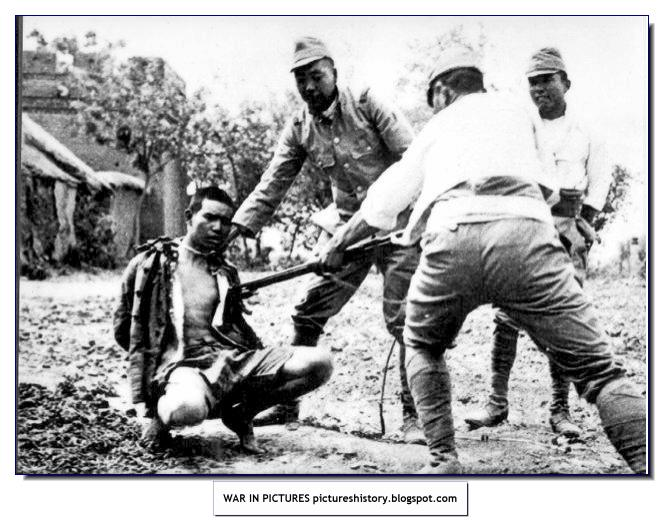 japanese soldiers executing chinese civilian nanking 1937