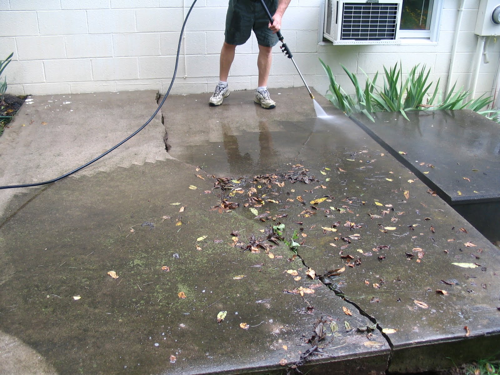My Shabby Chateau: How to Turn an Ugly Concrete Slab into ...