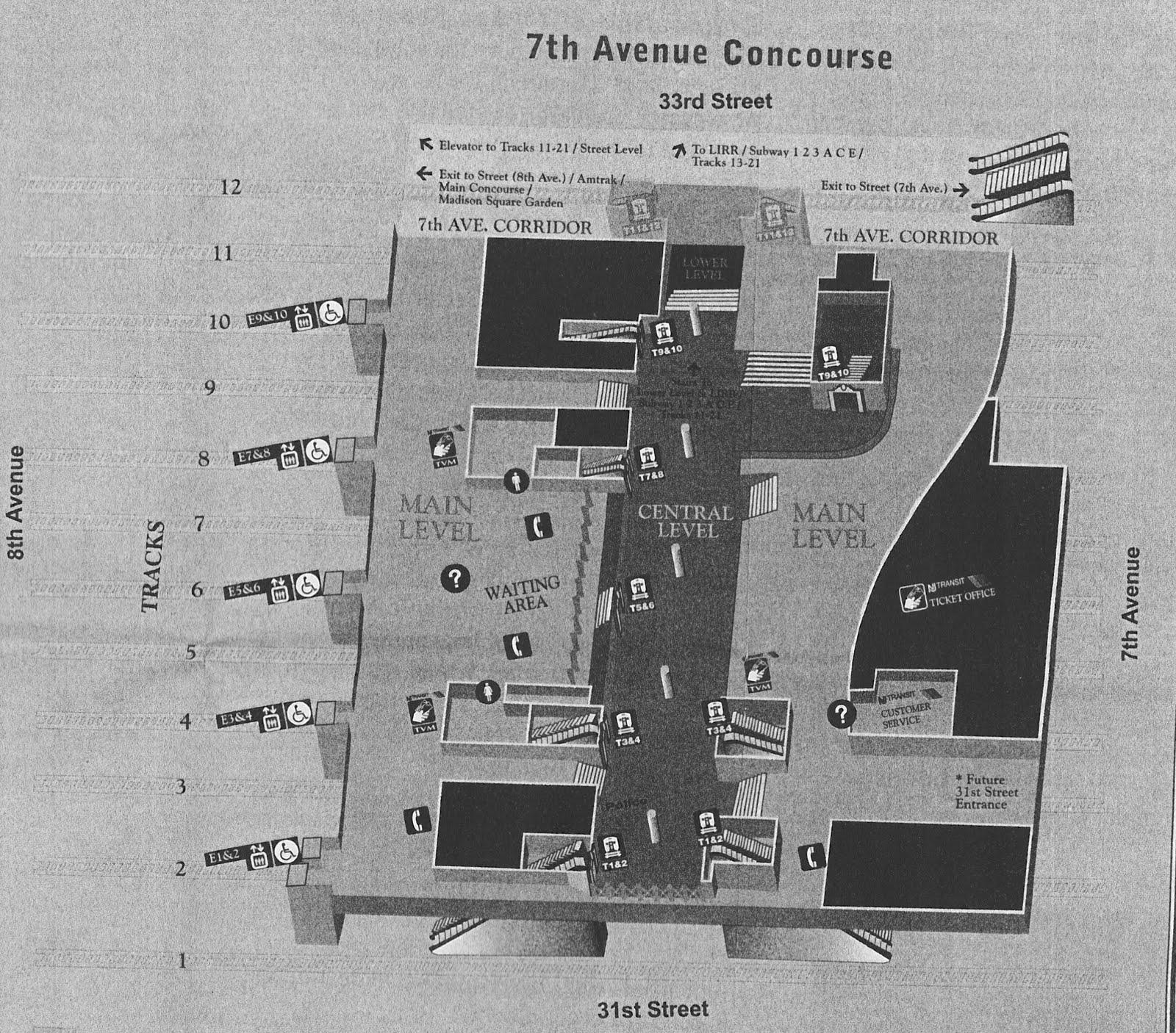 Penn Station Nyc Map Inside.Newark Penn Station Map Bnhspine Com
