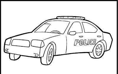 Desenhos Policia E Carros Para Colorir