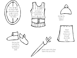 armor of god coloring pages lds | Strong Armor: FHE Idea - Armor of God