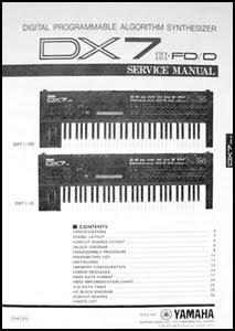 Yamaha dx7 dx-7 dx9 dx-9 complete service manual download manuals.