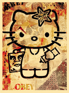 Shepard Fairey x Sanrio Hello Kitty Print