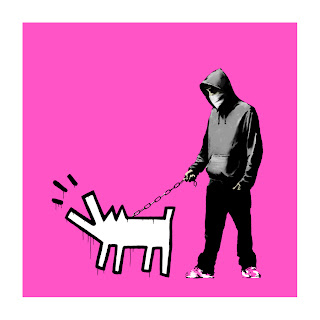 Banksy Choose Your Weapon Print Bright Pink