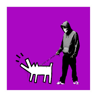 Banksy Choose Your Weapon Print Bright Purple