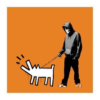 Banksy Choose Your Weapon Print Dark Orange