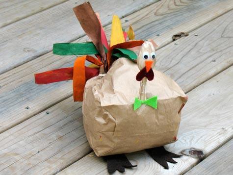 Creating Turkey Brown Paper Bag Craft