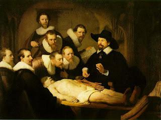 Resultado de imagen de lección de anatomía rembrandt