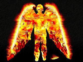 Fire Music Angel wallpaper and photo