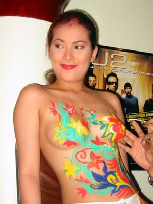 Indonesian nude girls body painting opinion